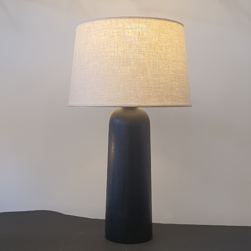 Wood stain table lamp
